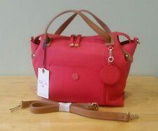 NICA Grab Bag, Handbag, Shoulder Bag, Coral Pink & Tan With Shoulder Strap BNWT