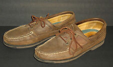 Stetson Brown Distressed Leather Lace Up Moc Toe Casual Shoes MEN'S Size 13M