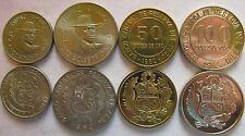 Peru set of 4 coins 1974-1982 (5+10+50+100 soles de oro) UNC