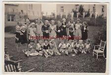 "(F11553) Orig. Foto Kinder Gruppenbild, Mädchen in Sportkleidung ""Kindergartenfe"