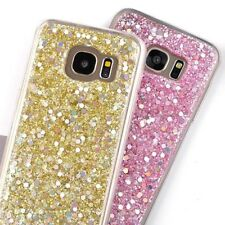 For Samsung Galaxy S7 -  Hard TPU Rubber Gummy Phone Case Shiny Glitter Sequins