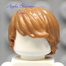 NEW Lego Minifig Tousled LIGHT BROWN HAIR -Medium Flesh Boy Minifigure Head Gear