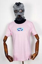Huf worldwide Footwear Skate shoes t-shirt Tee Color Block BAR Logo Fucsia En M