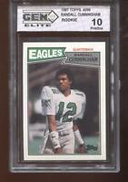 Randall Cunningham RC 1987 Topps #296 Eagles Rookie GEM Elite 10 Pristine