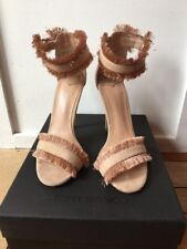 New Tony Bianco Kimi Blush Pink Fringe Stiletto Heels 5 1/2