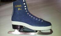 Jeans blau  Eiskunstlauf Freizeit Gr. 41 Damen Schlittschuh Iceskate