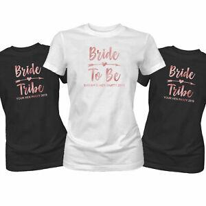 Rotgold Junggesellinnenabschied T-Shirt Braut Tribe Junggesellenabschied
