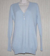 WORTH 100% Cashmere Blue Cadigan Women Long Sweater Size:S