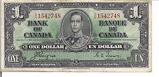 CANADA, $1, KGVI, 1937