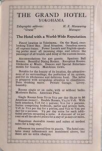 1914 Japón Japonés Turista Anuncio La Grand Hotel