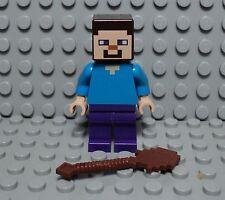 LEGO minifig Steve du set minecraft the farm 21114