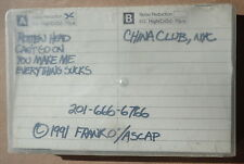 Frank O' The Mountain - Rare rock Demo Cassette Tape - 1991 China Club, New York