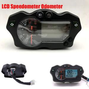 Motorcycle Dirt Bike Speedometer Odometer 7 Colors Digital LCD Gauge 12000 RPM