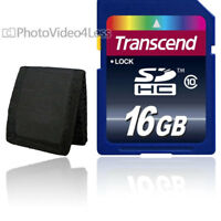 Transcend 16 GB  SDHC SD Class10 Memory Card NEW For Canon ,Nikon Digital Camera