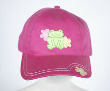 CONFETTI GIRLS NWT BASEBALL CAP HAT HOT PINK FROG  BEADED FLOWERS ADJUSTABLE NEW