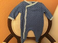 Dwell Studio 3-6 Month Boys Romper Outfit Blue Airplanes