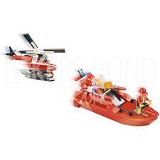 Fire & rescate marítimo salvar la vida Barco helicoptor Set Ciudad Ladrillos 200 un.