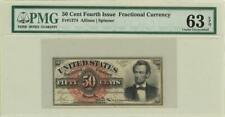 Fractional Currency Banknote 50 Cents Fr-1374 1863 PMG 63 CHOICE UNC EPQ