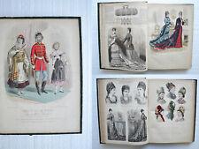 REVUE DE LA MODE - 1877 - 52 numéros in-folio / 52 gravures coloriées.