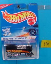 C110 HOT WHEELS 1996 FIRST EDITIONS RAIL RODDER #370 BLACK RED DECAL NEW ON CARD