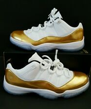 NIKE AIR JORDAN 11 XI RETRO LOW 528895-103 CLOSING CEREMONY OLYMPIC GOLD SIZE 11