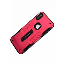 Antiurto antipolvere METAL ARMOR CASE COVER PER APPLE IPHONE se in Rosso