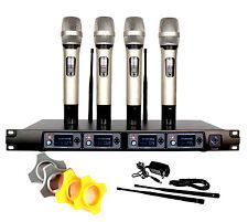 UHF 4 Channel Diversity Handheld Wireless Microphone System for KTV Wedding