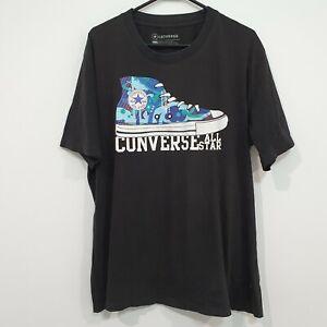 Converse All Star Chuck Taylor Shoe Camo Graphic T-Shirt Size XXL