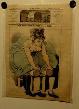 Caricature,Journal l'éclipse,Sur quel pied danser? Gill, 26 juillet 1874