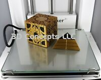 Hellraiser Cube Puzzle Box - Gold With Large Stand