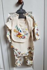Mothercare baby boys/girls/unisex noddy set/babygrow hat & bib 0-3 months bnwt