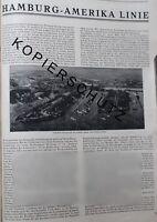 Hamburg Amerika Linie Große Werbeanzeige von 1926 Reklame Werbung advertising