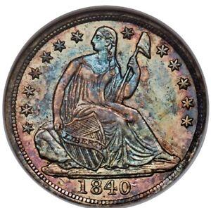 1840 Seated Liberty Half Dime NGC AU55 GOLD CAC