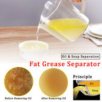6-Cup Fat Separator Jug Grease Filter Gravy Measuring Oil Strainer @US