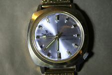 DAICHI Vintage Mens Gold Plated Date Watch with NEW GP MESH STRAP.