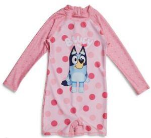 NWT Bluey bathers Size 5 Girls swimsuit sunsuit pink, swim, swimming