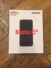 NEW Motorola Moto E4 16GB Unlocked GSM Verizon Prepaid (Black) Free Shipping