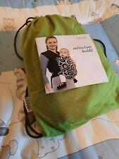 Wickeltuch von Lilliputi Strechy Wrap in grün für 3 bis 9 kg, Babytrage