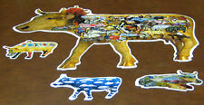 Great American Cow Parade Shaped Jigsaw Puzzle 700+  & 3 cow shaped Mini Puzzles