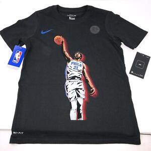 Nike DriFit Philadelphia 76ers Joel Embiid Icon T-Shirt Youth Size XL