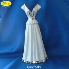 VASO VESTITO DAMA IN PORCELLANA Color White e Arg. CON ASTUCCIO LUSSO 55470-1PX