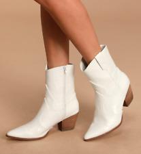 FREE PEOPLE+ Matisse BAMBI White Faux Croc Western Calf Boot UK7.5 EU39/40 US9.5