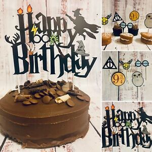 HARRY POTTER Cake Toppers⚡️1 x Large 15 x Themed Cupcake🦉🎂🧁