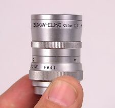 .Very Rare Near Mint Zunow Elmo cine 6.5mm F 1.1 D-Mount Vintage