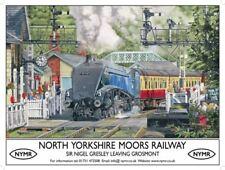 NYMR Sir Nigel Gresley advertising sign 20x30cm Moors Railway metal wall plaque