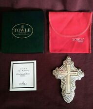 1997 4th Edition Towle Christmas Sterling Silver Cross Ornament