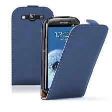 Ultra Slim Azul De Cuero Flip Funda Protectora Bolsa Para Galaxy S3 gt-i9300i Neo, Neo +