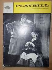 Playbill-Mark Hellinger Theatre Programme 1959- MY FAIR LADY by Alan Jay Lerner