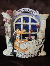Puppy Love 2 Dogs Toasting Champagne Tea Light Holder Blue Sky Hp by Goldminc