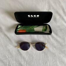 Garrett Leight Wilson Sunglasses Gold Frame